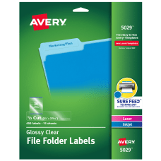 Avery File Folder Labels Sure FeedTM