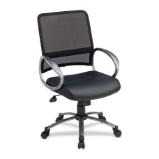 Lorell Mid Back MeshBonded Leather Task