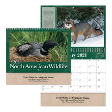 Wildlife Spiral Wall Calendar