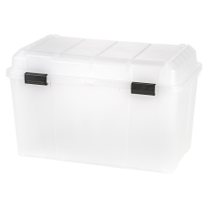 IRIS Plastic Storage Trunk With HandlesLatch