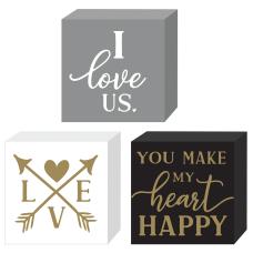 Amscan Love Valentines Day Mini Block