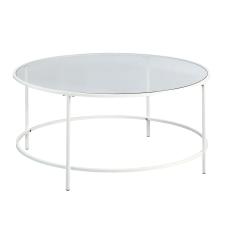 Sauder Anda Norr Glass Coffee Table
