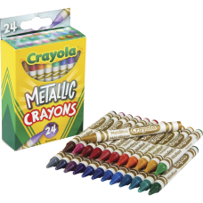 Crayola Metallic Crayons 11 Length Metallic