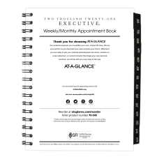 AT A GLANCE Executive WeeklyMonthly Appointment