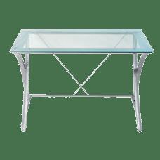 Realspace Zentra Main Desk SilverClear