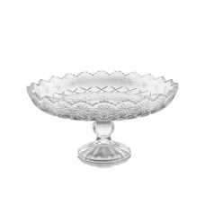 Gibson Home Jewelite Footed Cake Platter
