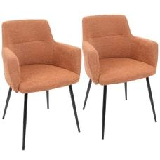 LumiSource Andrew Chairs BlackOrange Set Of