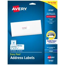Avery Easy Peel White Inkjet Address
