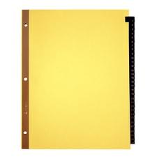 Office Depot Brand Preprinted Index Tab