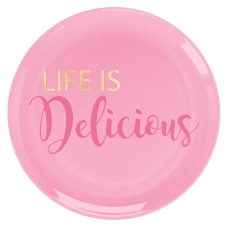 Amscan Life Is Delicious Plastic Plates