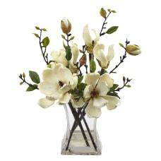 Nearly Natural 15 H Plastic Magnolia