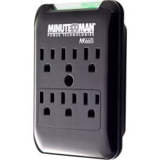Minuteman SlimLine MMS660S 6 Outlets Surge