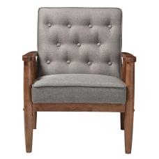 Baxton Studio Noel Fabric Lounge Chair