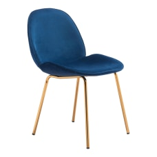 Zuo Modern Siena Dining Chairs BlueGold