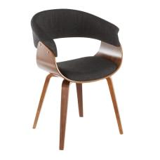 LumiSource Vintage Mod Chair WalnutCharcoal