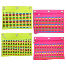 Inkology Puffy Print Binder Pencil Pouches