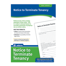 Adams Notice To Terminate Tenancy