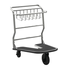 Suncast Commercial Nesting Luggage Cart Rubber