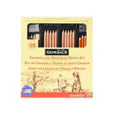 Generals Drawing Pencil Kit 20 Assorted