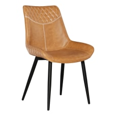 Linon Colette Dining Chairs BlackBrown Set