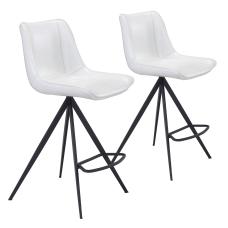 Zuo Modern Aki Counter Chairs WhiteBlack