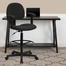 Flash Furniture Ergonomic Drafting Chair Black