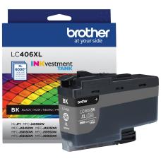 Brother LC406XLBK Genuine High Yield Black