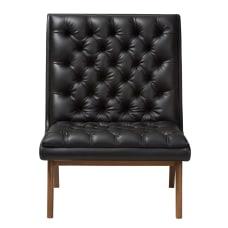 Baxton Studio Yasin Lounge Chair BlackWalnut