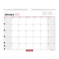 Office Depot Monthly Wall Calendar 15
