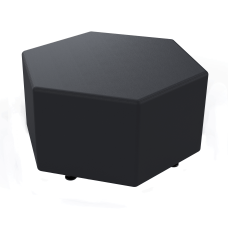 Marco Hexagon Seating Ottoman Ebony