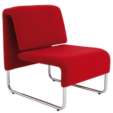 Alba CHCOMFORTR Reception Chair Red