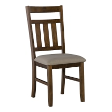 Powell Kassel Side Chairs Rustic UmberTan