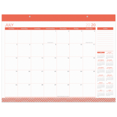 Office Depot Monthly Academic Desk Calendar