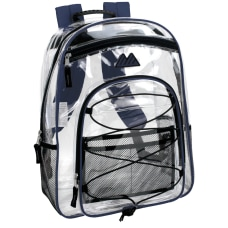 Trailmaker Water Resistant Clear Backpack Blue