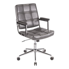LumiSource Bureau Contemporary Office Chair GrayChrome