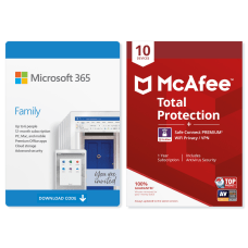 Microsoft 365 Family McAfee Total Protection