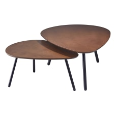 Adesso Hendrix Nesting Tables Oval Walnut