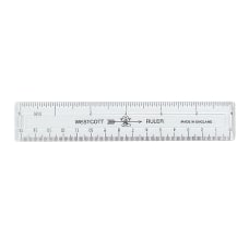 Acme Durable Plastic 6 Clear Ruler