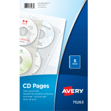Avery CD Sheet Protector Pages Clear