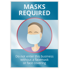 ComplyRight Mask Required Window Clings 14