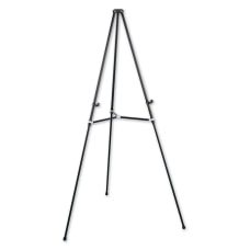 Quartet Lightweight Telescoping Easel Black Aluminum