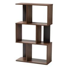 Baxton Studio Adelina Display Bookcase Walnut