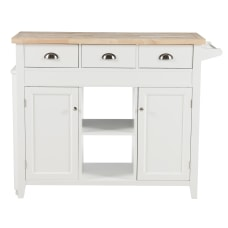 Linon Lockhart Kitchen Cart 36 H