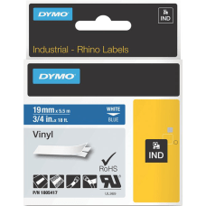 DYMO White on Blue Color Coded