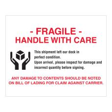 Tape Logic Pallet Protection Labels Fragile