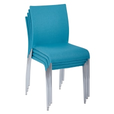 Ave Six Conway Stacking Chairs AquaSilver