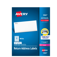 Avery Laser Address Labels With Sure