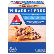 Atkins Caramel Chocolate Nut Roll Bars