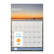 Blue Sky Wire Bound Monthly Wall