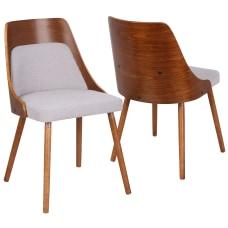 LumiSource Anabelle Chair Gray SeatWalnut Frame